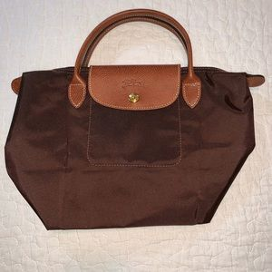 Longchamp Le Pliage Top Handle Small, Brown
